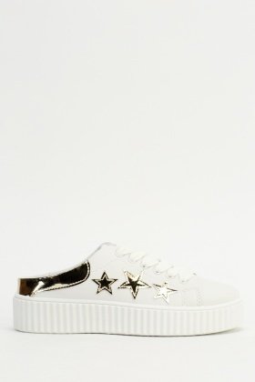Star Contrast Slip On Trainers