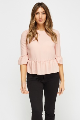 Detailed Back Frilled Top