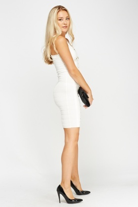 Bandage Studded Bodycon Dress