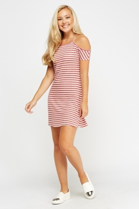 Cold Shoulder Swing Dress