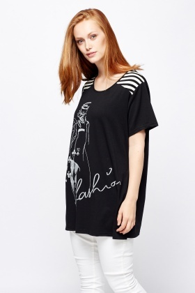 Fashion Girl Printed Top