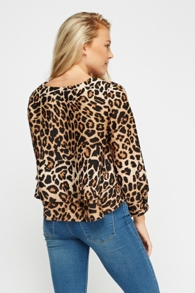 Leopard Print Layered Top