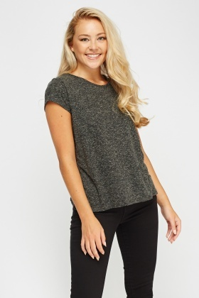 Speckled Charcoal Top
