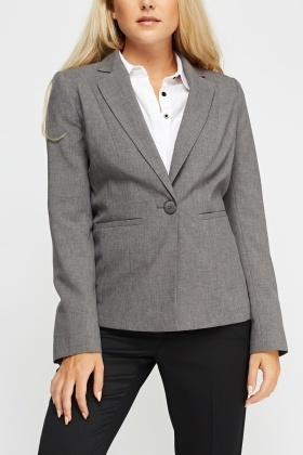 Stitched Detail Formal Blazer