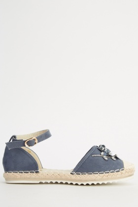 Embellished Espadrille Sandals