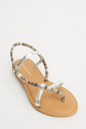Multi Metallic Sandals