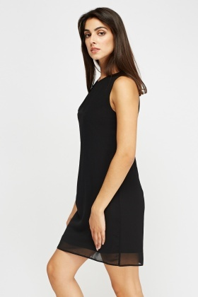 Pleated Front Shift Dress