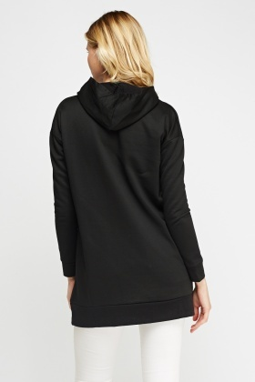 Black Hooded Jumper
