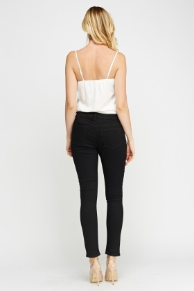 Skinny Leg Black Jeggings