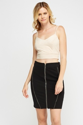 Suedette Cropped Top
