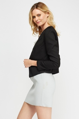 Zipped Textured Blazer