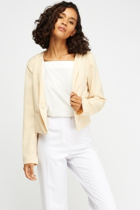 Casual Cropped Blazer