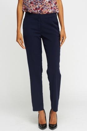 Dark Blue Casual Trousers