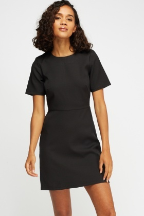 Short Sleeves Shift Dress