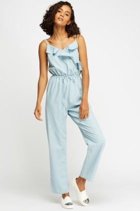 Detailed Flared Jumpsuit