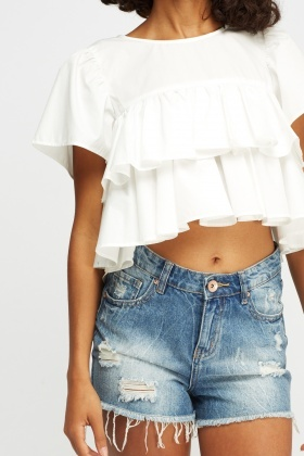 Frilled Crop Top