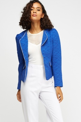 Metallic Insert Embossed Blazer
