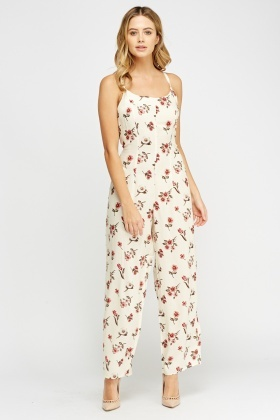 Flower Printed Jumpsuit