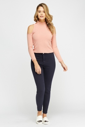 High Waist Denim Jeggings