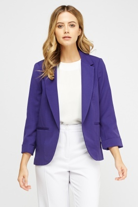 Lapel Front Formal Blazer