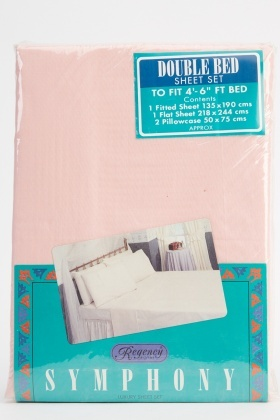 Pink Double Bed Sheet Set