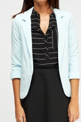 Fitted Aqua Blazer