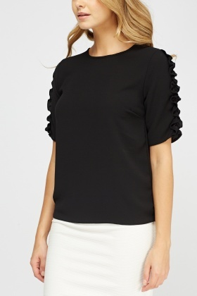 Ruffled Sleeve Box Top