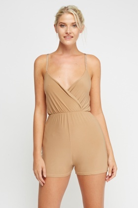 Plunge Elasticated Playsuit