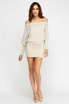 Lurex Batwing Mini Dress
