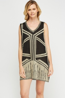Metallic Insert Knitted Dress
