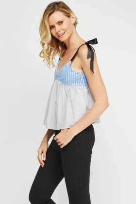 Mix printed Flare Top