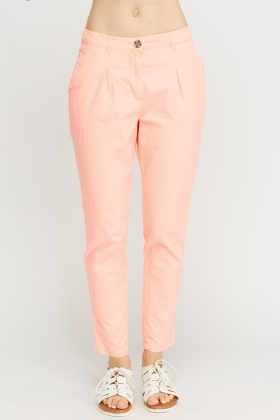 Neon Pink Cotton Trousers