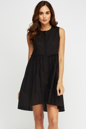 Button Up Swing Dress
