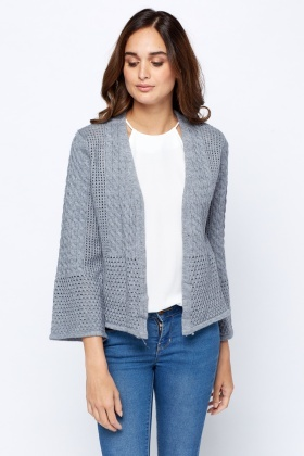 Knitted Casual Open Front Cardigan