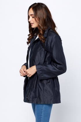Navy Hooded Water Proof Jacket