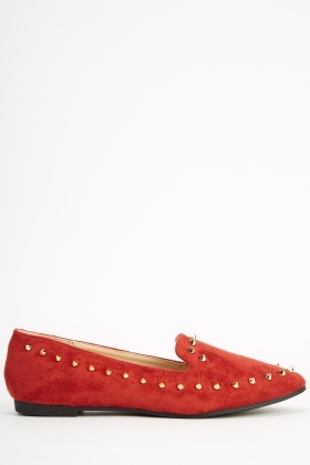 Suedette Studded Pumps