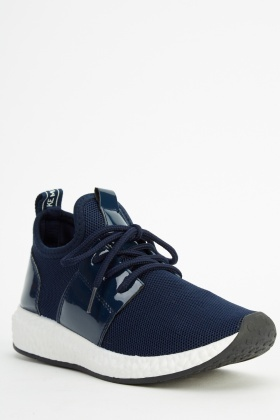 Sock Contrast Navy Trainers