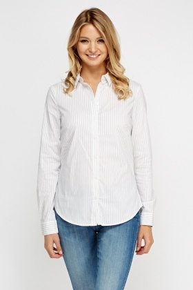 Pinstriped Casual Shirt