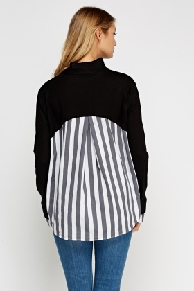 Shirt Insert Sweater Top