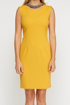 Textured Sleeveless Dress