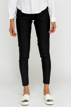 Black Casual Leggings