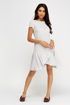Flare Hem Casual Dress