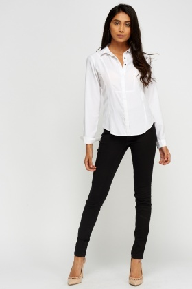 Black Slim Leg Waist Denim Jeans