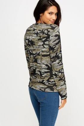 Camouflage Speckled Top