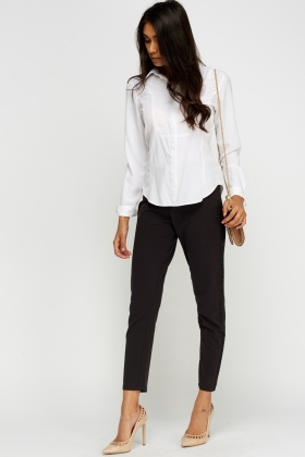 Diamonte Trim Charcoal Trousers