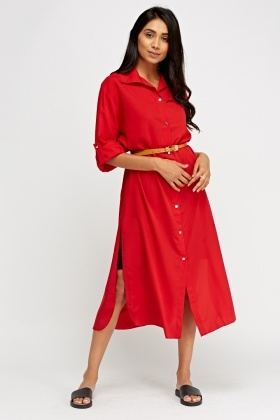 Long Line Shirt Dress