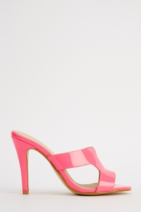 Cut Out PVC Heeled Shoes