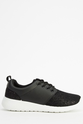 Mesh Insert Lace Up Trainers