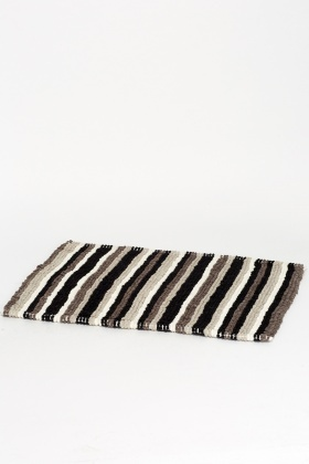 Striped Woven Bath Mat