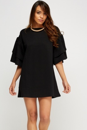 Flare Sleeve Jumper Dress